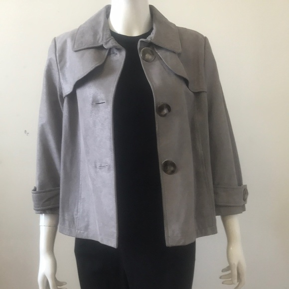 Danier Jackets & Blazers - Silver faux suede blazer